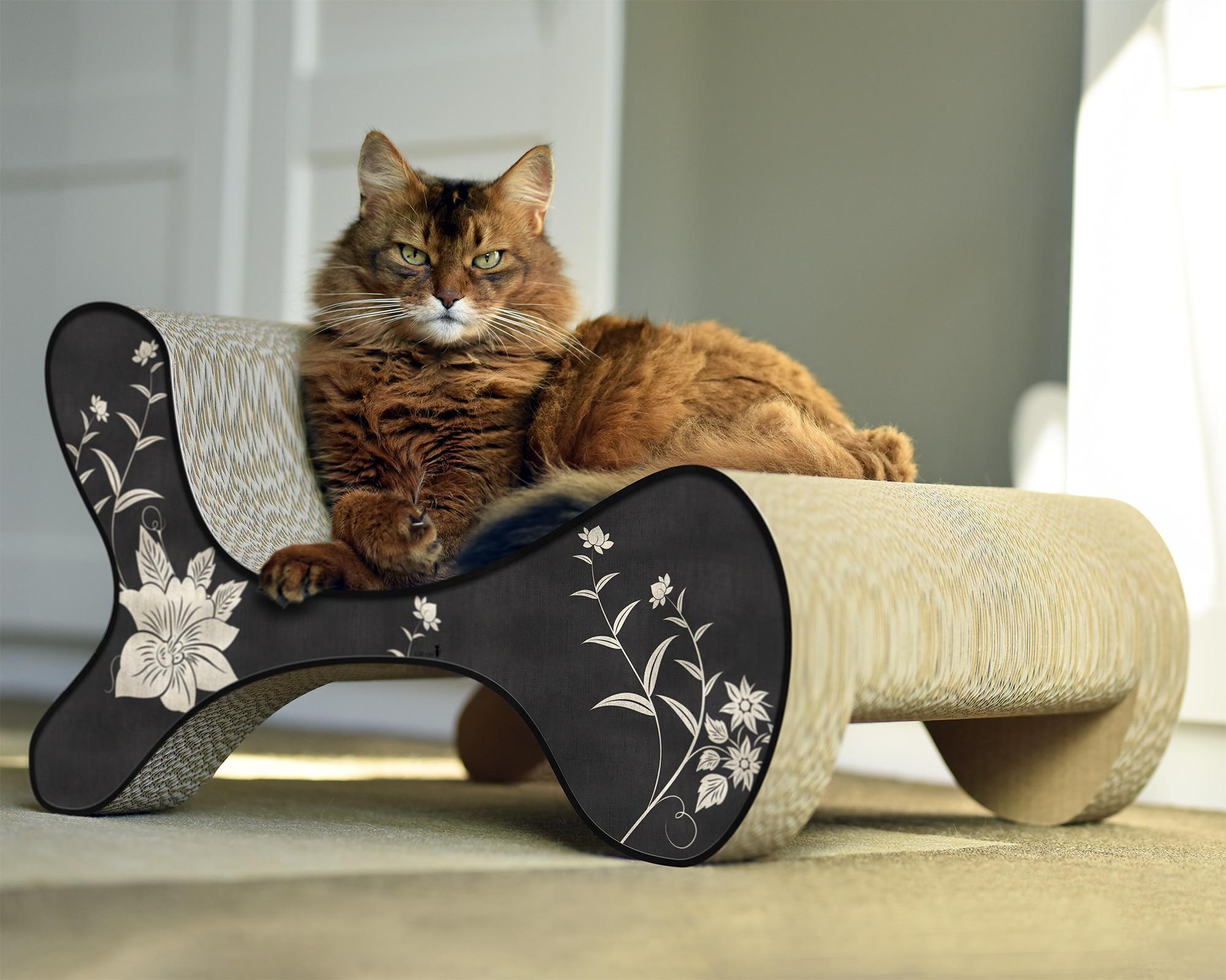 Griffoir Chat Fait Maison un griffoir ecologique et design pour mon chat - feerie-green
