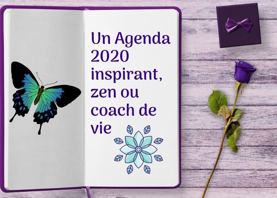 Un Agenda 2020 inspirant, zen ou coach de vie.