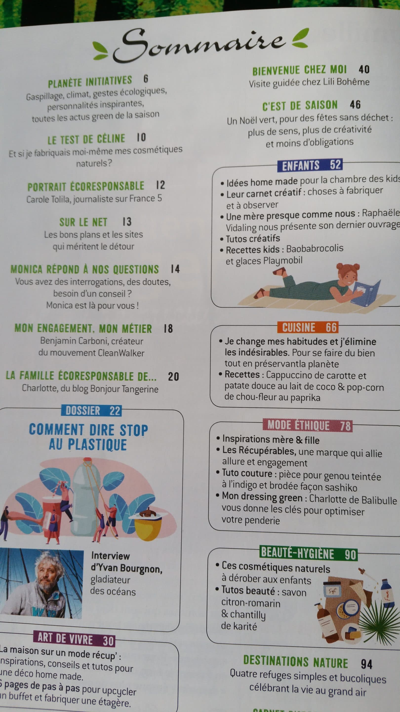 sommaire magazine famille green