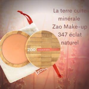 La terre cuite minérale Zao Make-up 347 éclat naturel -