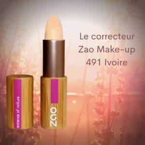 Le correcteur Zao Make-up 491 Ivoire -