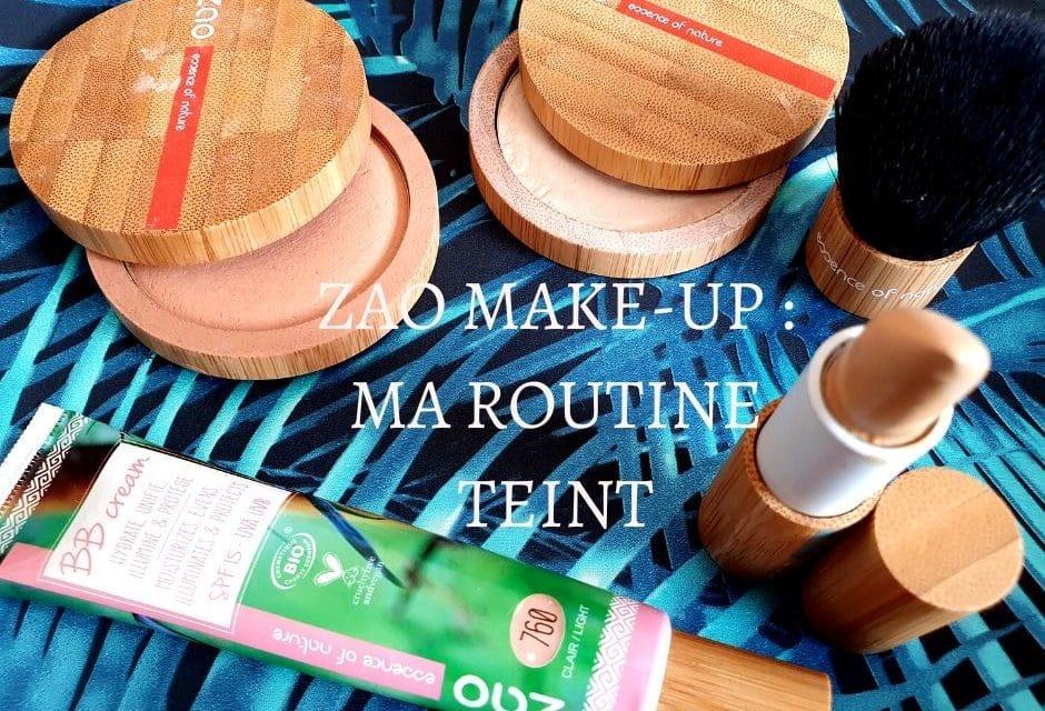 ZAO MAKE-UP : Ma routine maquillage du teint