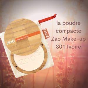 la poudre compacte Zao Make-up 301 Ivoire -