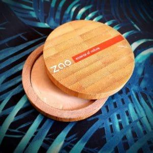 la poudre compacte Zao Make-up 301 Ivoire
