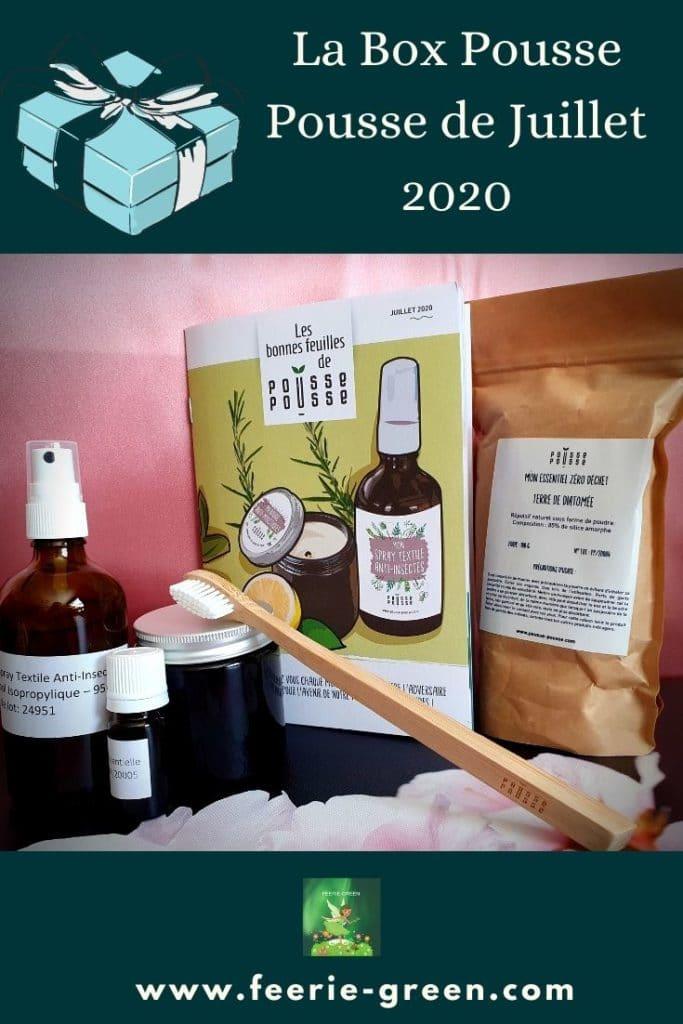 La Box Pousse Pousse de Juillet 2020 - pinterest