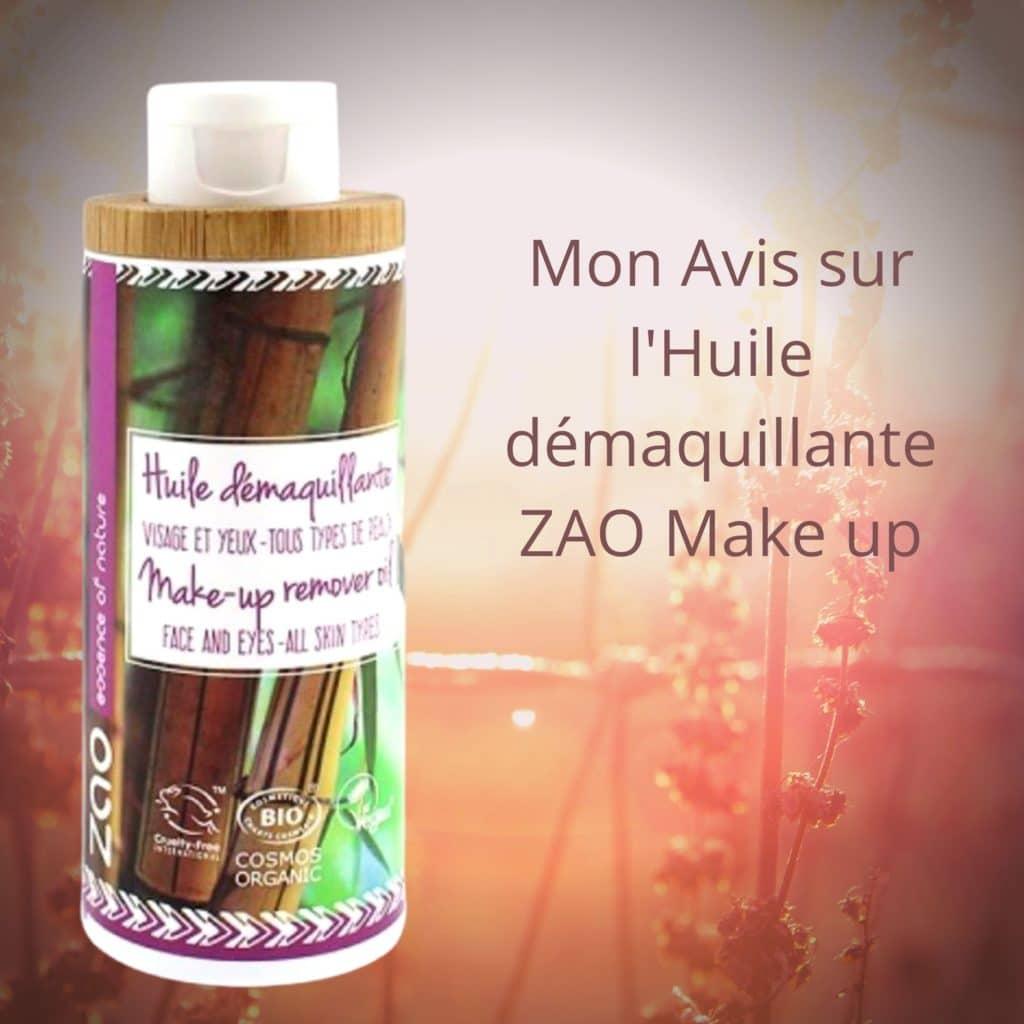 l'Huile démaquillante ZAO Make up