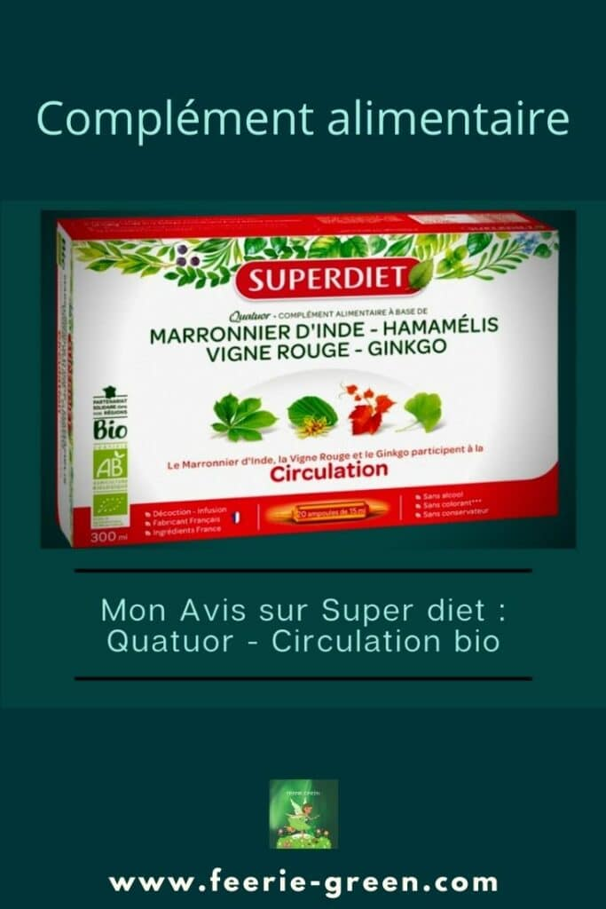 Super diet quatuor vigne rouge circulation Bio - pinterest