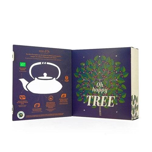 Calendrier de l'Avent oh Happy thé bio de Nature et découvertes