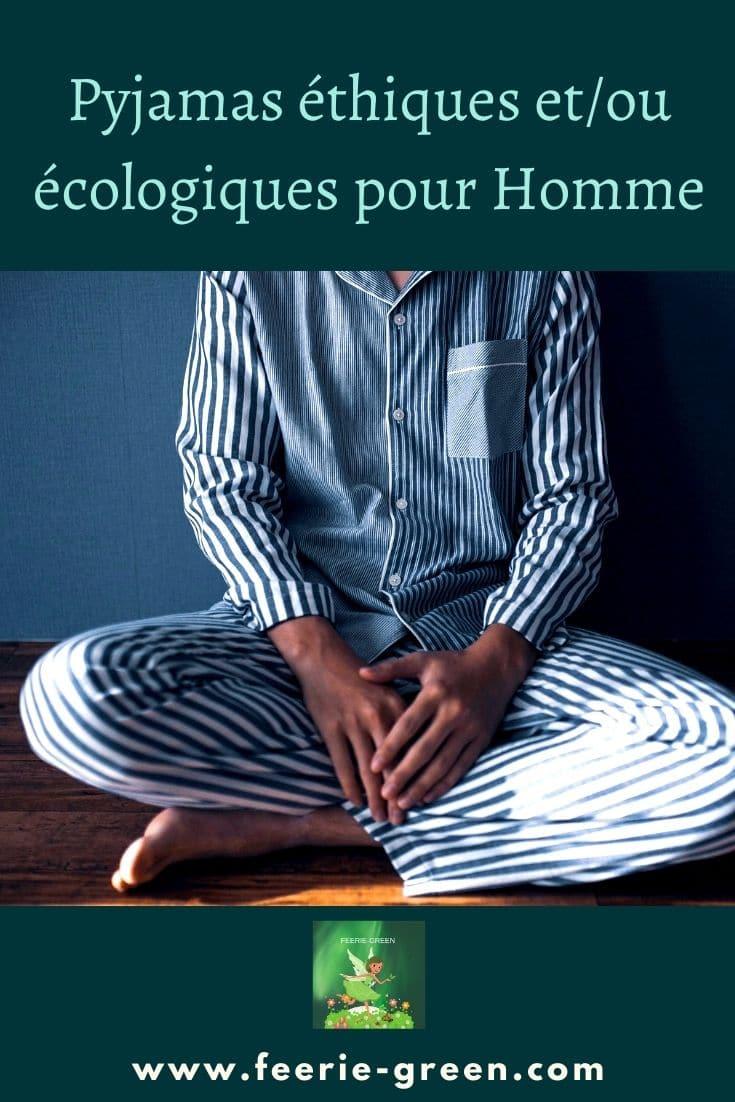 Pyjamas éthiques etou écologiques pour Homme - pinterest