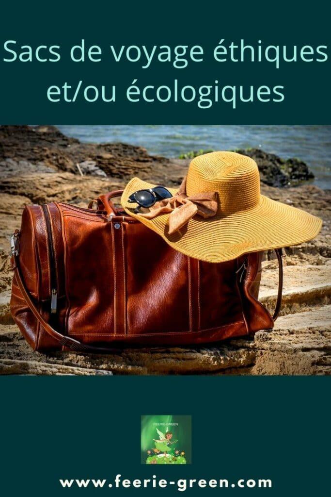 Sacs de voyage éthiques etou écologiques - pinterest