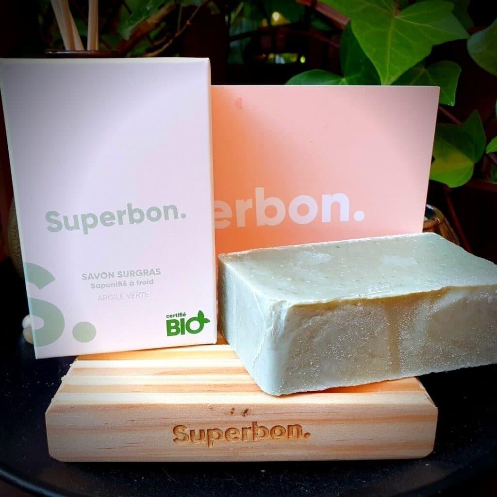 Superbon  Savon surgras Bio Exfoliant à l'argile verte