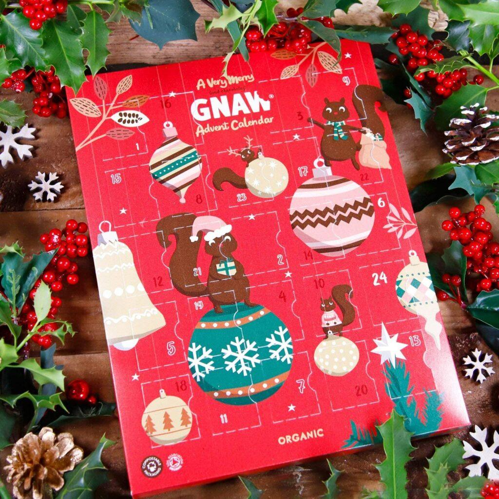 Calendrier de l'Avent bio de chez Gnaw Chocolate