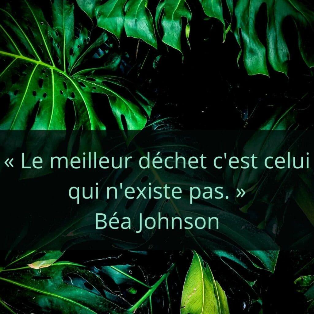 « Le meilleur déchet c'est celui qui n'existe pas. » Béa Johnson