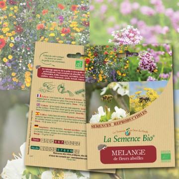 Mélange de fleurs abeilles bio